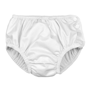 i play. Snap Reusable Absorbent Swimsuit Diaper - White