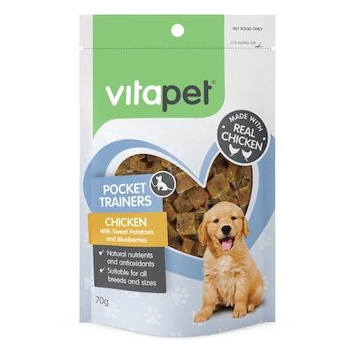 Vitapet Pocket Trainer Chicken Dog Treats 70g