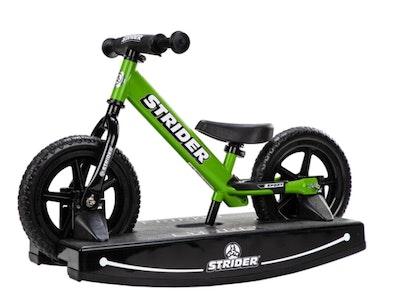 "Strider 12"" Sport Balance Bike & Rocking Base - Green"