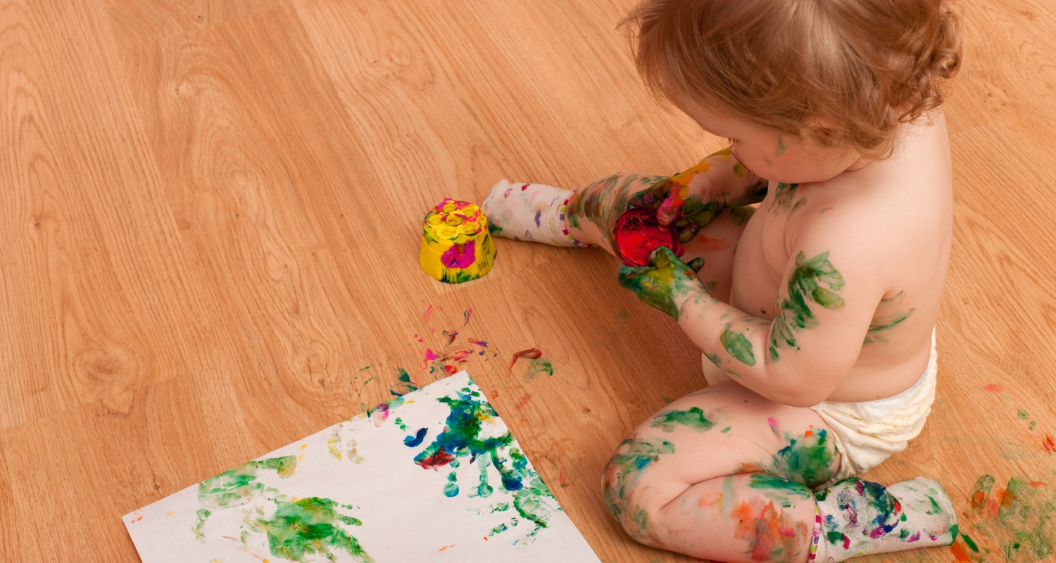 Benefit of messy play for babies