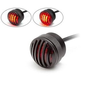 Matte Black Mini Flush Mount Prison Grill LED Stop/Tail Light