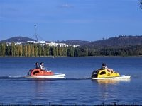 Paddle boating on Lake Burley Griffin