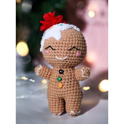 Chippico Australia  Xmas Gingerbread Tree Ornament Boy-Girl Duo Crochet Stuffed Cake Set 2021
