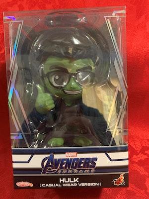 "Avengers 4: Endgame - Hulk Casual Wear Cosbaby 3.75"" Hot Toys Bobble-Head Figure"