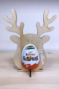 Personalised Wooden Kinder Reindeer