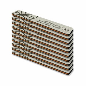 Regal by Anh Rectangular Coarse 100/100 Nail File (10 Pack)