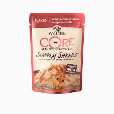 WELLNESS CORE Simply Shreds Salmon & Tuna Wet Cat Food 50G
