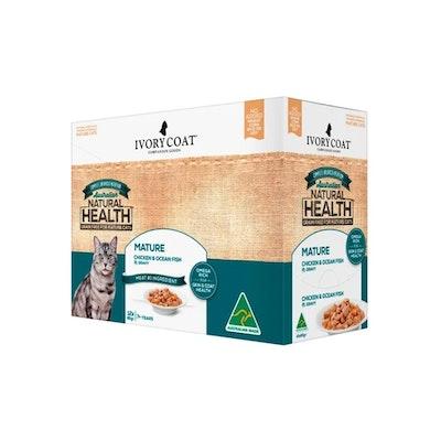 IVORY COAT Cat Mature Chicken & Fish Gravy 12 X 85G