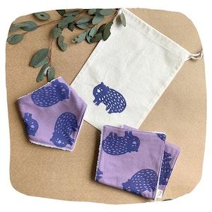 Wombat Bib and Burp Cloth Baby Bundle