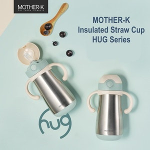 Mother-K Insulated Thermos Stainless Steel Straw Bottle (350mL)