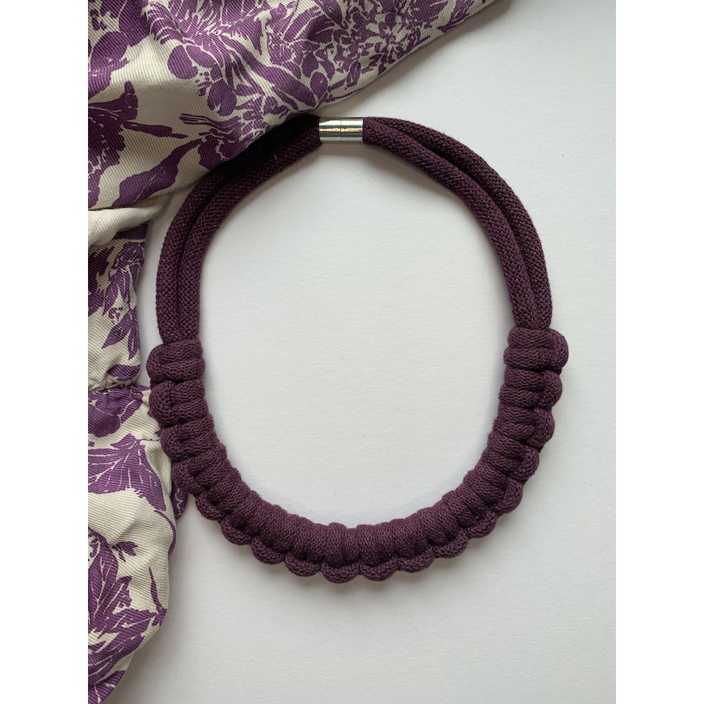 Form Norfolk Hitch Knot Necklace In Plum Purple