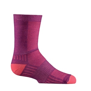 Wrightsock Blister-free Kids Coolmesh II - Crew Socks - Plum/Pink