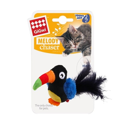 GIGWI Melody Chaser Toucan Motion Active Interactive Cat Toy