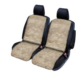 Sheepskin Seat Covers 20Mm (Pair) Airbag Safe | Mocha