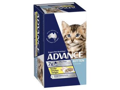 Advance Kitten Tender Chicken Delight 85G X 7 Cans