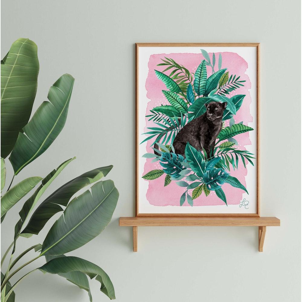 Laura Elizabeth Illustrations Panther Fine Art Print