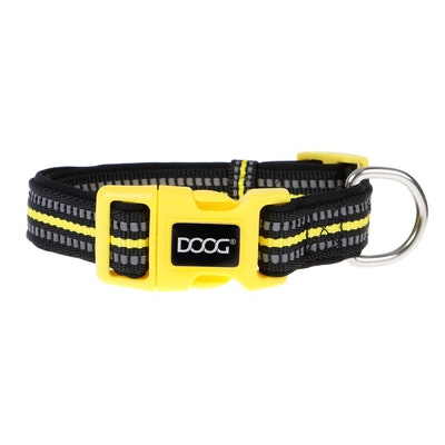 Doog Neoprene Dog Collar - (Neon High Vis) Bolt