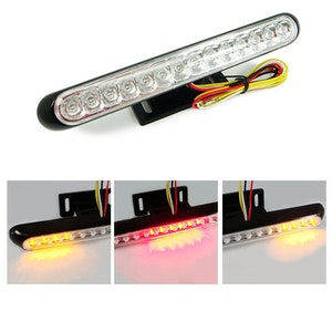 LED Rear Tail Light Integrated Indicators - Black