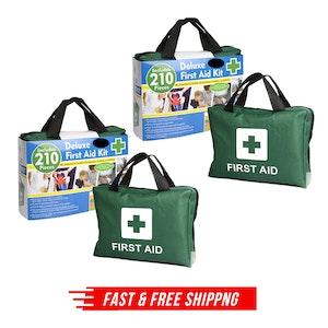 2x 210PCS EMERGENCY FIRST AID KIT Medical Travel Set Workplace Office ARTG BULK