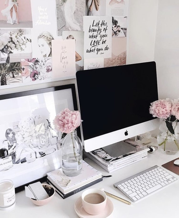 Guide to Home Office Design and Styles Vision Board 1