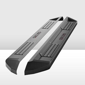 SAN HIMA Steel Side Steps Running Boards for Ford Ranger Dual Cab 2012-ON Black