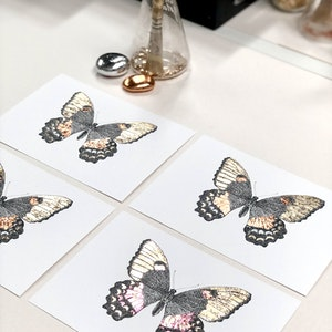 A5 'Beautiful Butterfly' Limited Edition Print with Hand-Applied Gold-Leaf Metals.