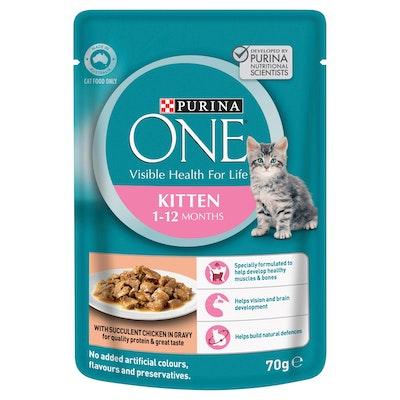 Purina One Kitten Chicken Wet Cat Food 70G