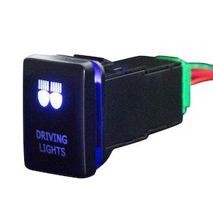 LIGHTFOX Push Switch Driving Lights Car Suitable for TOYOTA Prado Hilux Landcruiser OEM