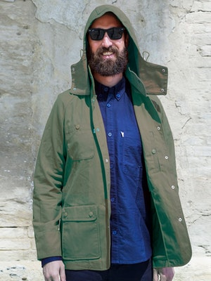 Paria Hjul Olive Green Waxed Cotton Jacket