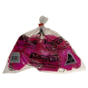 Kevron ID38 Easy Opening Plastic Key Tags – 50 Pack – Fluoro Pink