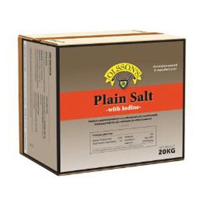 Olsson Plain Salt w/ Iodine Livestock Feed Supplement 20kg