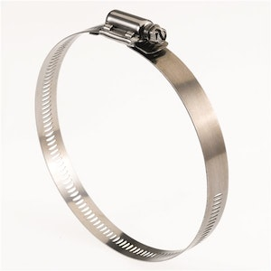Tridon Tri-Strength Clamp Stainless Steel Perforated 78mm - 102mm 10pk