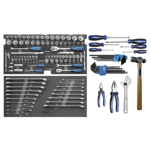 SP50027 Tool Kit 133 Piece Foam Tray METRIC/SAE SP50027 (NO TOOL BOX)