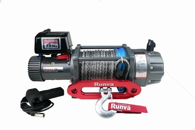 Runva Ewb20000 Premium 12v With Synthetic Rope   Full Ip67 Protection