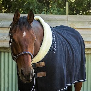 Iconic Equestrian Iconic Grandeur Fleece Rug - Black