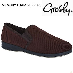 Boutique Medical GROSBY Hotham Slippers Shoes Indoor Outdoor Cushion Moccasins New