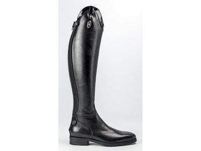 Secchiari 200W Ladies Classic Elastic Black Boot with Patent Top