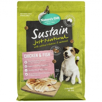 NATURE'S GIFT Sustain Adult Chicken & Fish Dry Dog Food