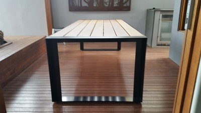 Outdoor Table Creations PRE ORDER - The Share Table and Bench Setting