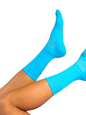 "Taba Fashion Sportswear Media Ciclismo Clasica Azul Turqueza 7"""