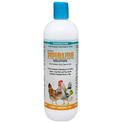 Pharmachem Piperazine Animal Concentrated Solution 45% - 5 Sizes