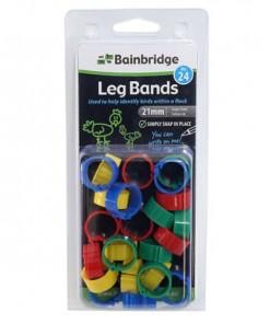 BAINBRIDGE Poultry Leg Rings 15mm Mixed 24
