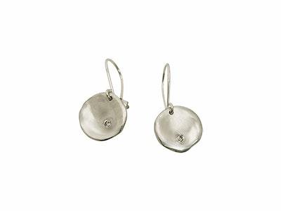 Lunar sterling silver Earrings with diamonds