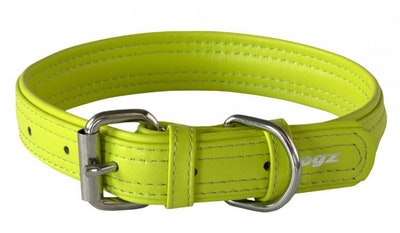 Rogz Leather Collar Lime