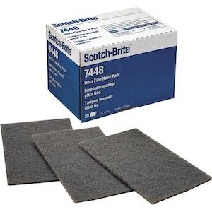 Grey Ultra Fine Scotchbrite Pads - Box of 25