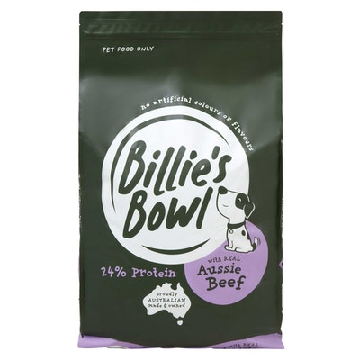 Billie's Bowl Adult with REAL Aussie Beef Dry Dog Food 10kg