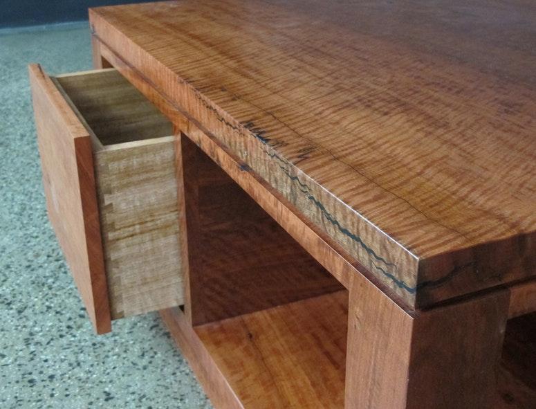 Christian Cole Furniture Red Gum Coffee Table Custom