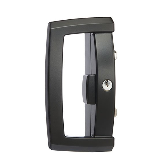 Lockwood 9a1a25pblk Onyx Glass Sliding Door Lock With