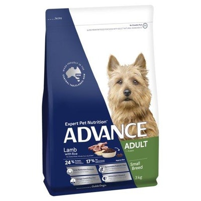 Advance Dry Dog Food Adult Lamb & Rice Small & Toy Breed 3kg