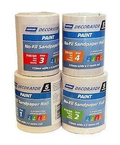 Decorator No-Fill Adalox Sandpaper Roll - 115mm X 25mt